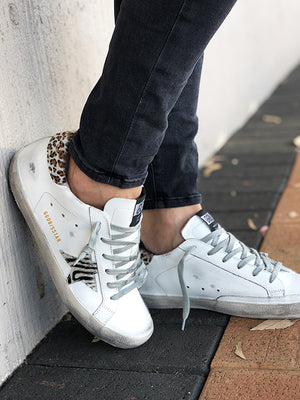 Sneakers Superstar White with Leopard Wild