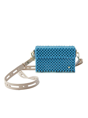 Wave Cocktail Clutch - Dusty Blue