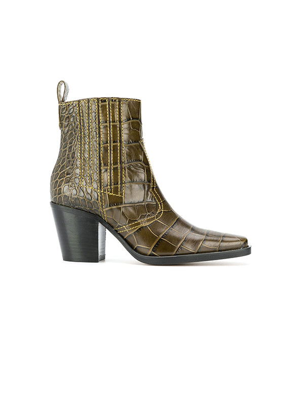 Ganni Western Ankle Boot In Kalamata
