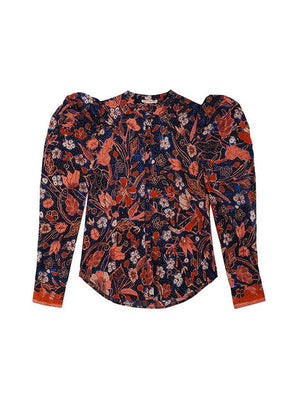 Willa Blouse in Midnight Floral