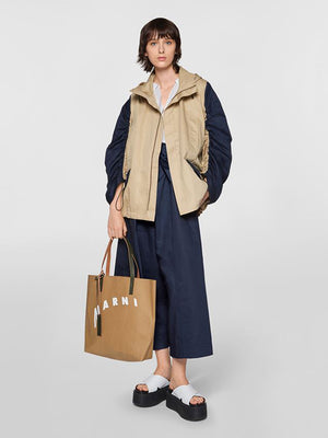 Marni Windbreaker Jacket in Light Camel