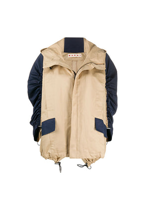 Windbreaker Jacket in Light Camel