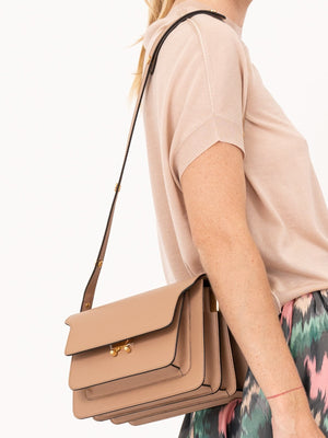 Marni Trunk Bag in Beige | EXPRESS SHIPPING WORLDWIDE