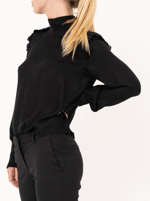 Nili Lotan Farah Top in Black
