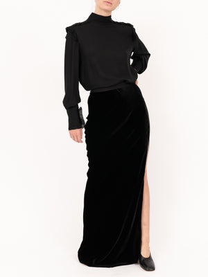 Nili Lotan Azalea Skirt in Black