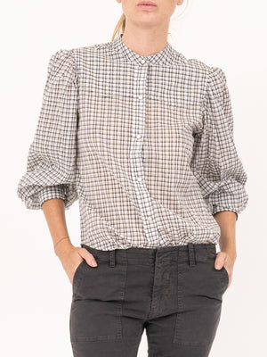 Nili Lotan Maisie Shirt In White Check