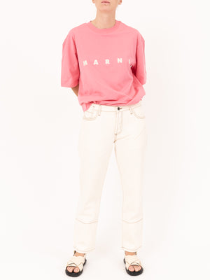 S/S Crew neck Marni Logo Tee Pink Candy