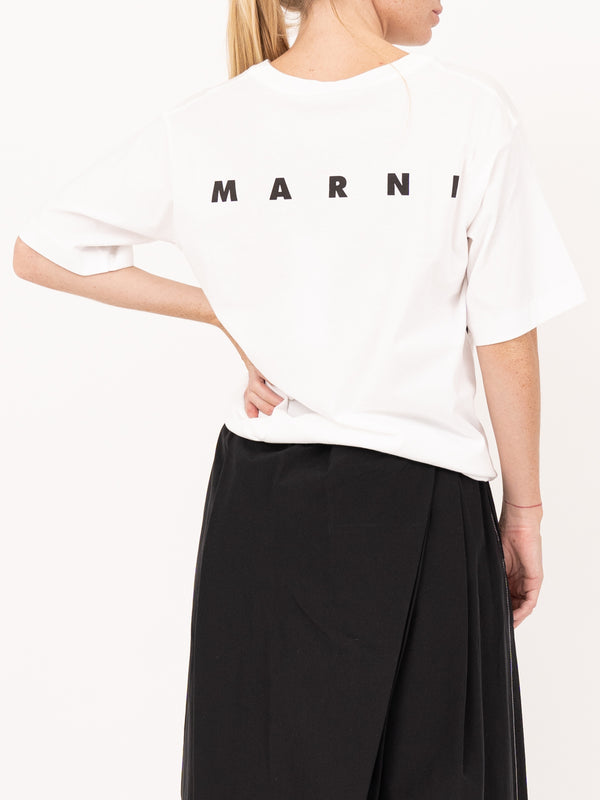Short Sleeve Crew Neck Tee in White