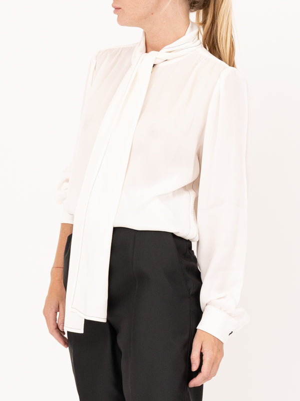 Long Sleeve Blouse in White