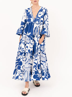 La DoubleJ Jennifer Jane Dress in Marea Blu