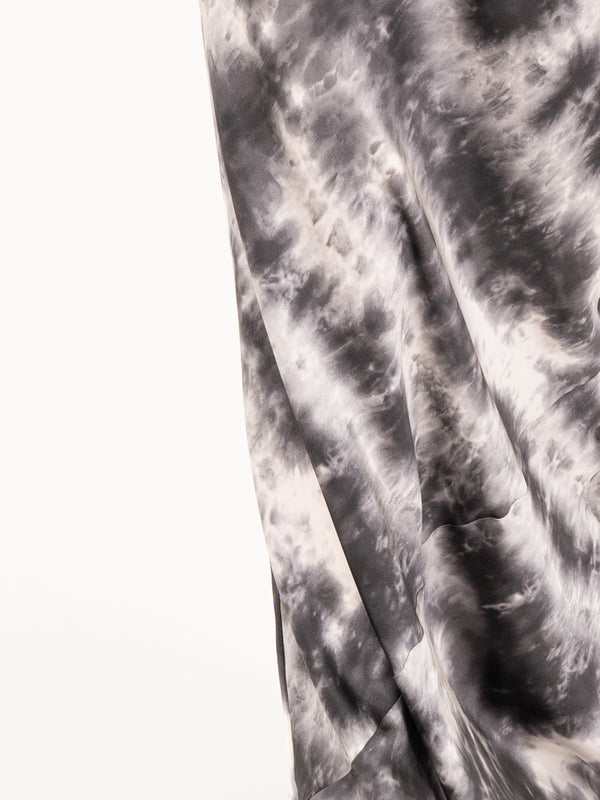 Cami Gown in Gunmetal Tie Dye