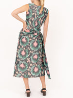 Sleevless Dress With Lateral Bow in Multi