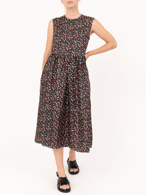 Marni Empire Cut Dress in Silk Twill Liz Print | SHOP IN AUSTRALIA