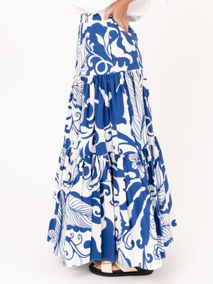 La Double Big Skirt in Marea Blue