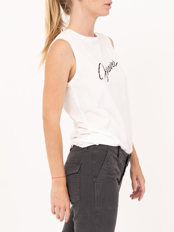 Nili Lotan Forever Muscle Tee in White