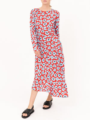 Pina Dress in Flower Leopard