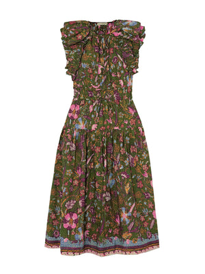 Arina Dress in Pine Floral