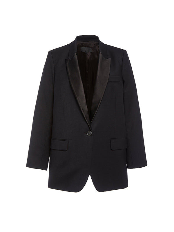 Nili Lotan Arlin Tuxedo Jacket in Black
