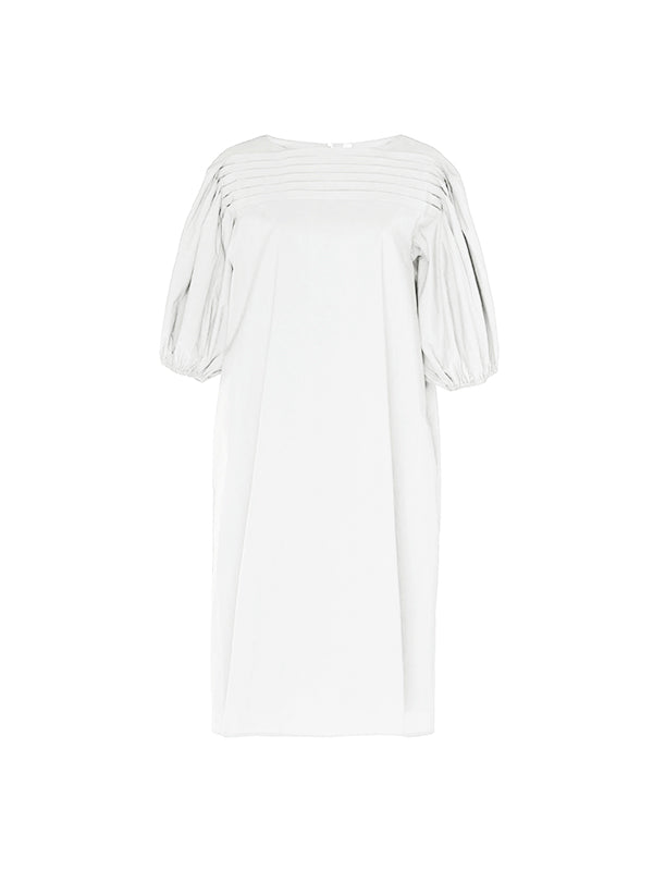 Merlette Aster Balloon Sleeve Dress In White
