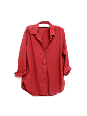 BEAU SHIRT IN RED EARTH