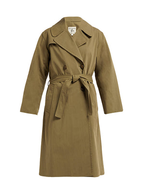 Benning Trench Coat in Army Green