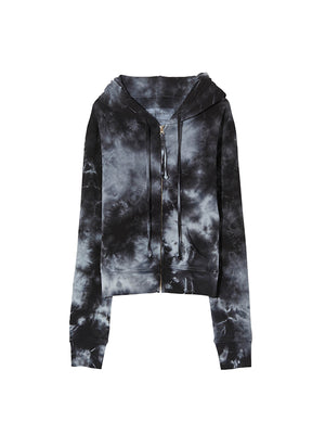 Callie Zip Up Hoodie in Tie Dye