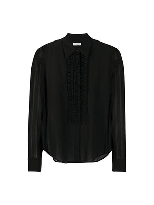 Chow Bis Embellished Shirt in Black