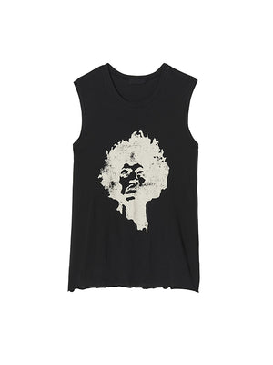 Concert Muscle Tee in Washed Black