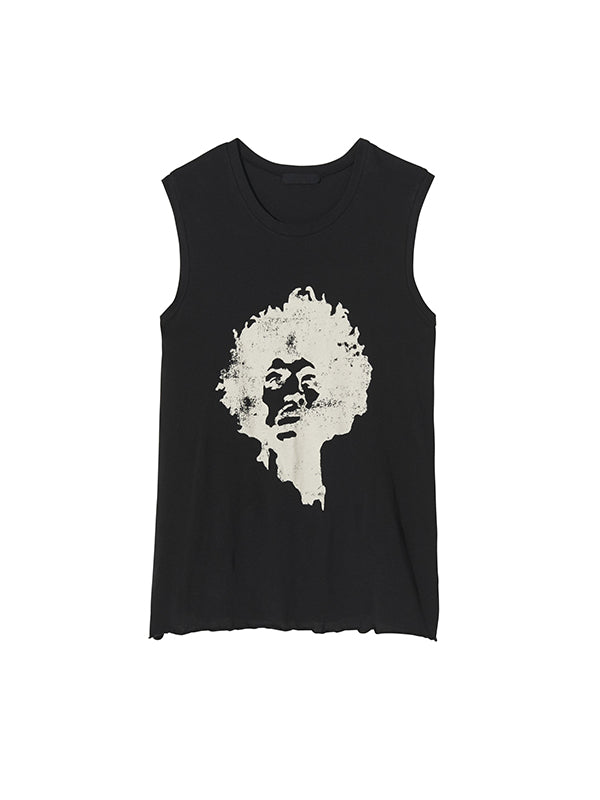 Nili Lotan Concert Muscle Tee in Washed Black