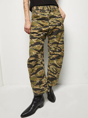 Nili Lotan Emmerson Pant In Tiger Print Camouflage
