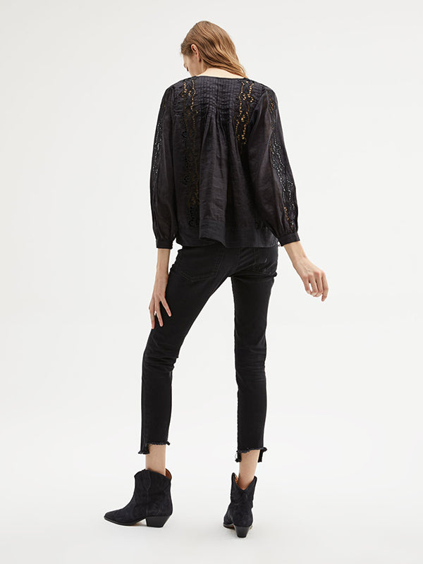 Fiona Top in Black