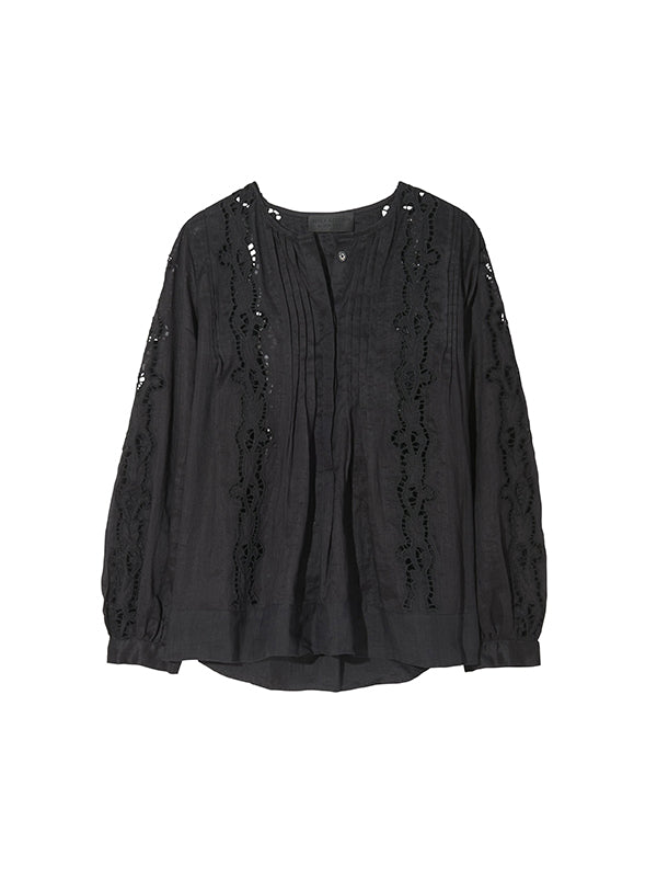 Nili Lotan Fiona Top in Black | FREE SHIPPING AUSTRALIA WIDE