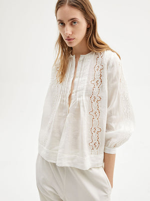 Nili Lotan Fiona Top in White