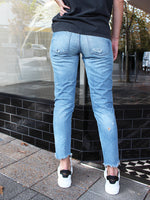 Moussy Vintage MV Kelley Tapered in Light Blue