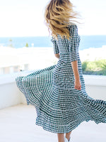 Kristen Dress In Houndstooth