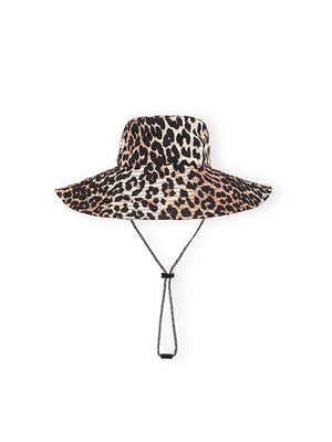 Tech Fabric Hat In Leopard