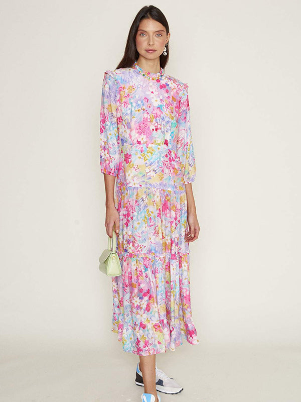 Monet Dress in Spring Meadow
