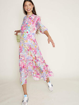 Rixo Monet Dress in Spring Meadow