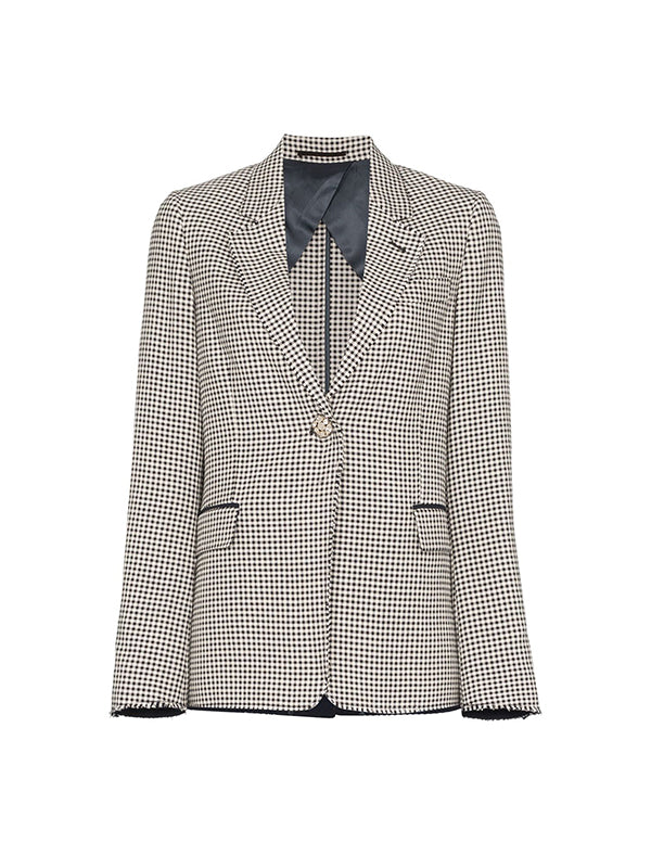 Jacket Golden In Navy White Check