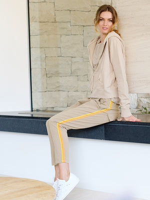 Paris Pant in Desert Sand w/ Orange/Yellow Tape