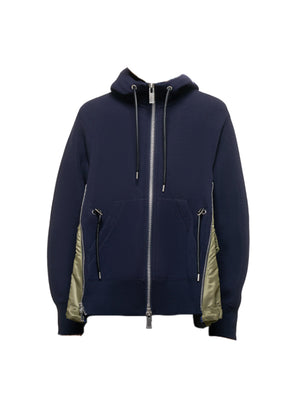 Spongy Sweat Hoodie in Navy