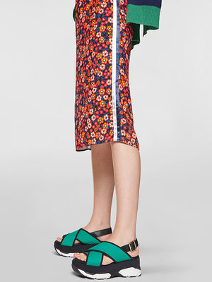 Marni Straight Skirt in Floral print