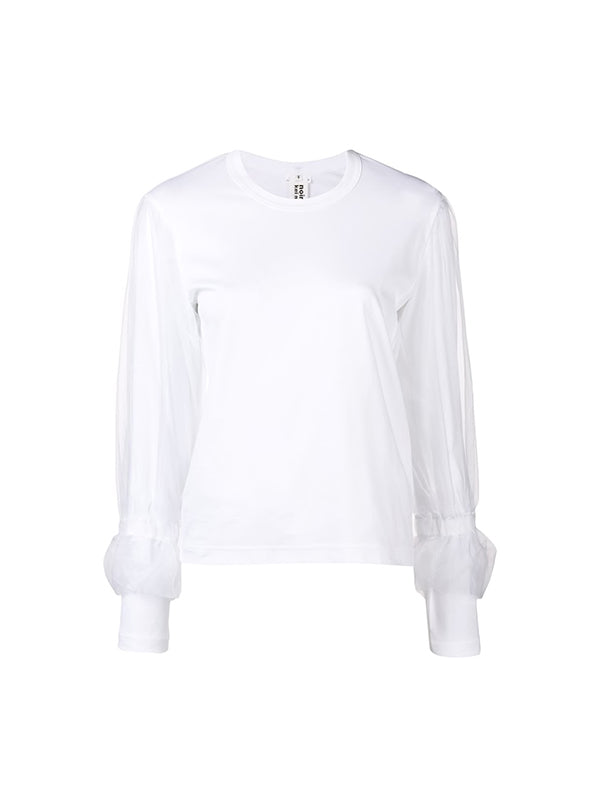 Long Sleeve Tshirt in WHITE