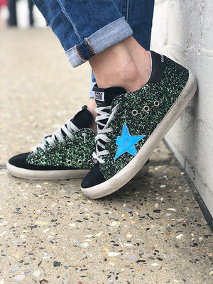 Sneakers Superstar Turquoise Star