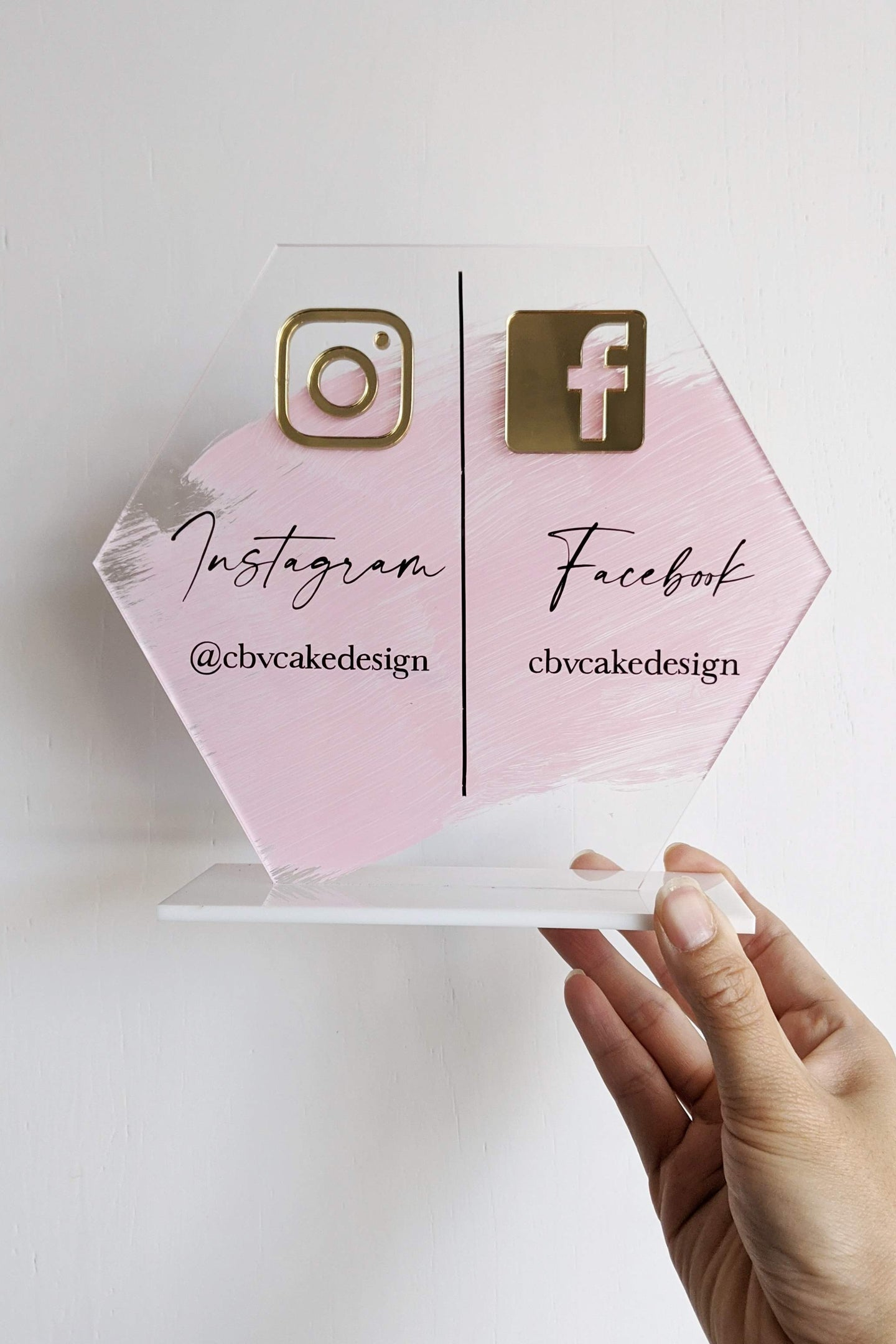 Social Media Sign - Hexagon