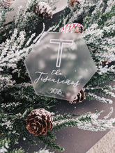 Load image into Gallery viewer, Personalized Family Name Christmas Ornament - Hex