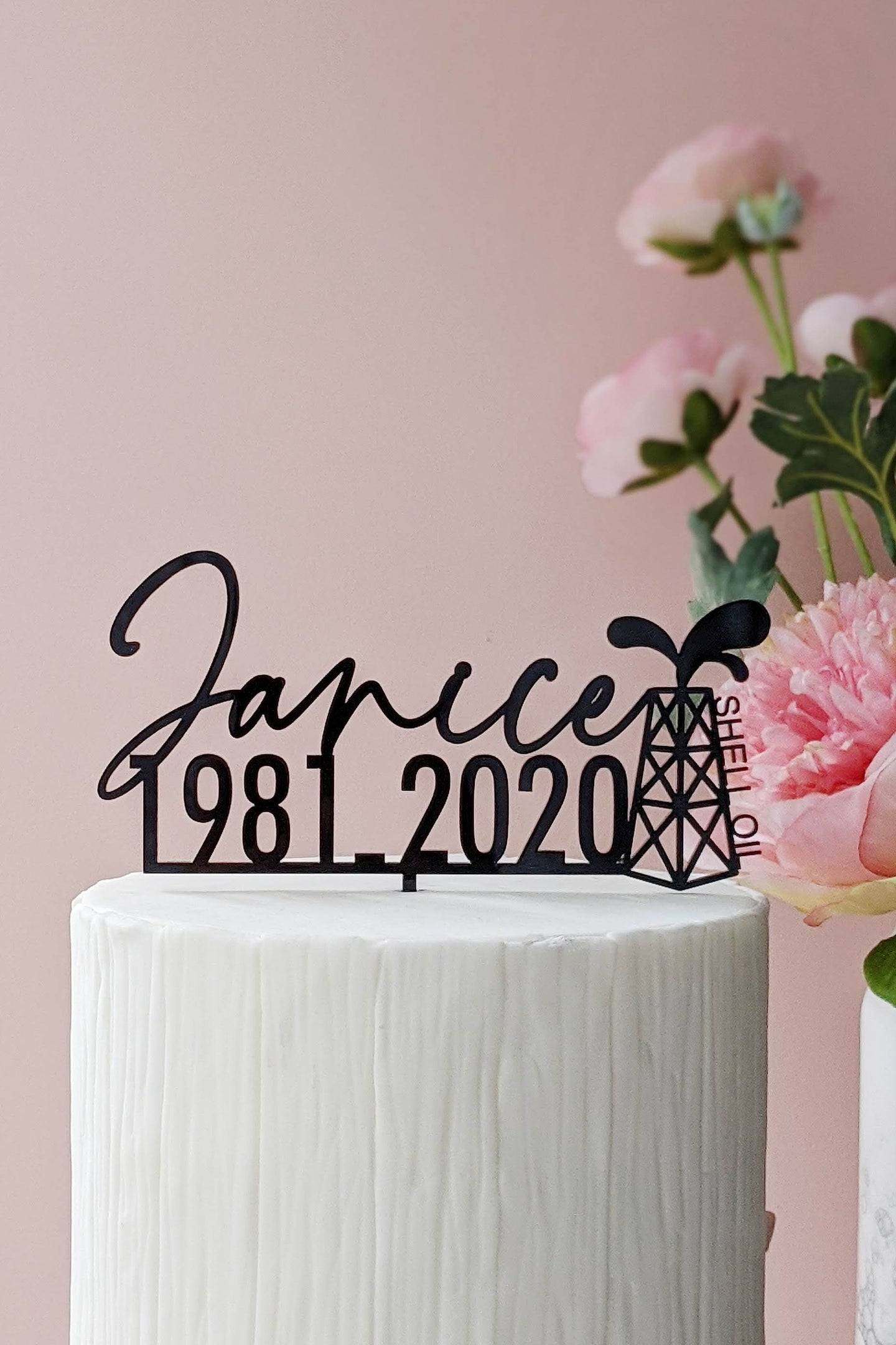 Custom Single Layer Cake Topper