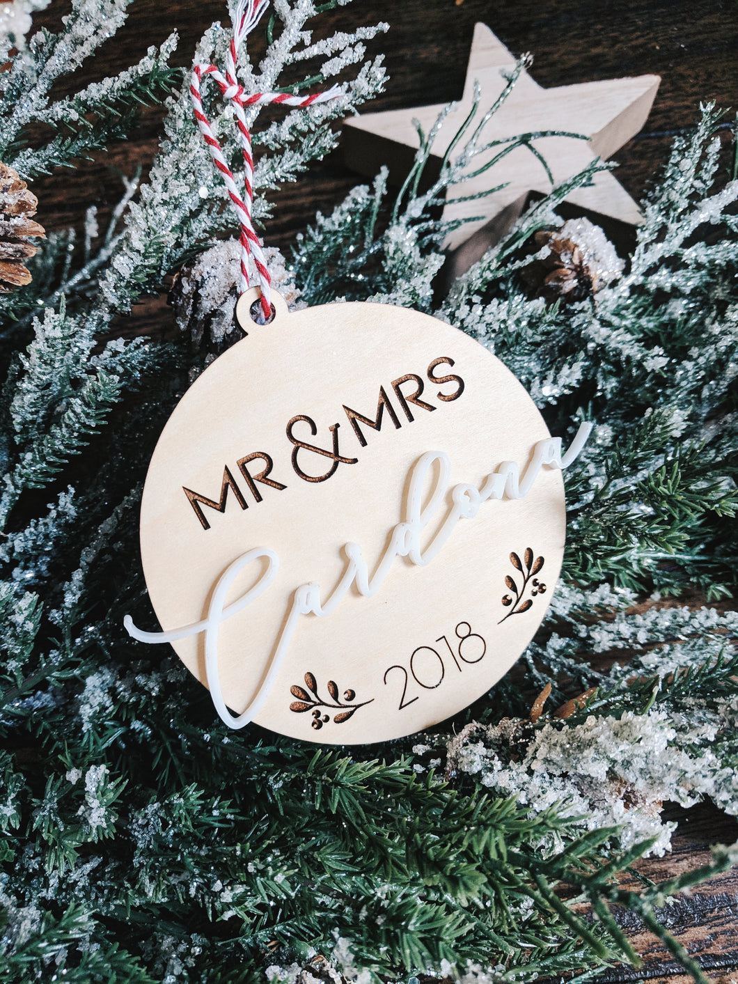 Mr & Mrs Personalized Christmas Ornament