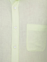 Solid Lemon Linen