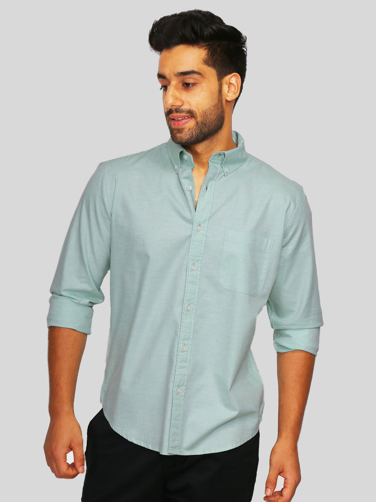 Green Melange Shirt